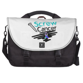 Funny Screw Thyroid Cancer Laptop Commuter Bag