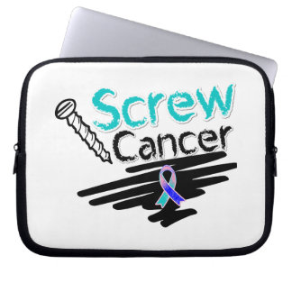Funny Screw Thyroid Cancer Laptop Sleeves
