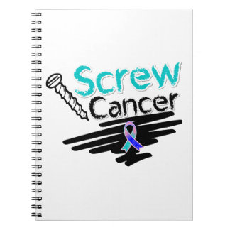 Funny Screw Thyroid Cancer Spiral Notebook