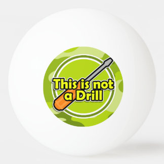 Funny Screwdriver; bright green camo, camouflage Ping-Pong Ball