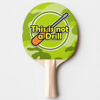 Funny Screwdriver; bright green camo, camouflage Ping Pong Paddle