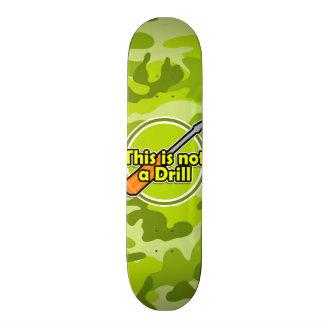 Funny Screwdriver; bright green camo, camouflage Skate Board Decks