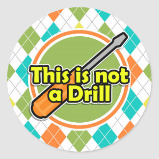 Funny Screwdriver; Colorful Argyle Pattern Stickers