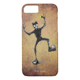 Funny Scribbly Robot Dude iPhone 8/7 Case