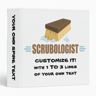 Funny Scrubologist 3 Ring Binder