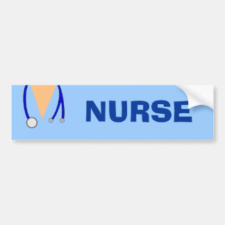 Funny Scrubs Nurse Stethoscope Bumper Sticker