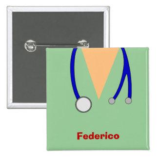 Funny Scrubs Nurses Whimsical Design Button
