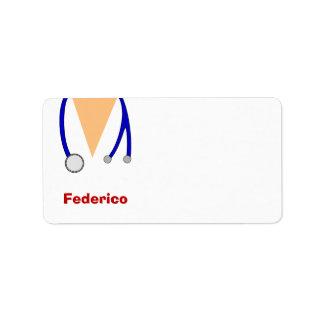 Funny Scrubs Nurses Whimsical Design Labels