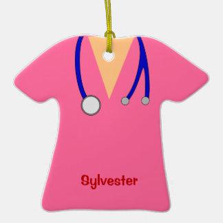 Funny Scrubs Nurses Whimsical Design Ornaments
