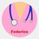 Funny Scrubs Nurses Whimsical Design Stickers
