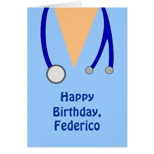Funny Doctor Birthday Greeting Cards – Happy Birthday Card for Doctor