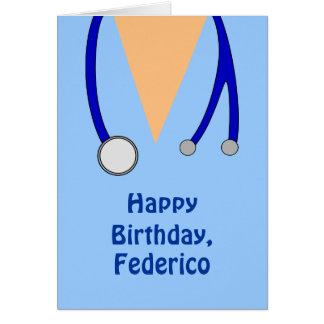 Funny Scrubs Nurses Whimsical Happy Birthday Cards