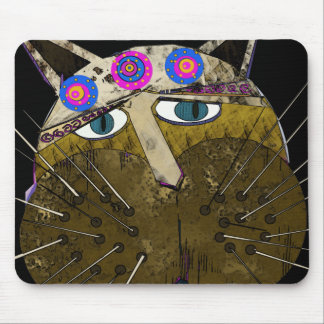 Funny Scruffy Cat gifts and Greetings Mouse Pad
