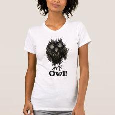 Funny Scruffy Owl T Shirts