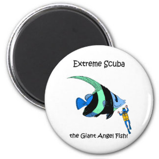 Funny scuba 2 inch round magnet