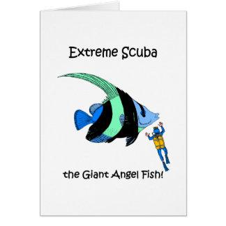 Funny scuba card