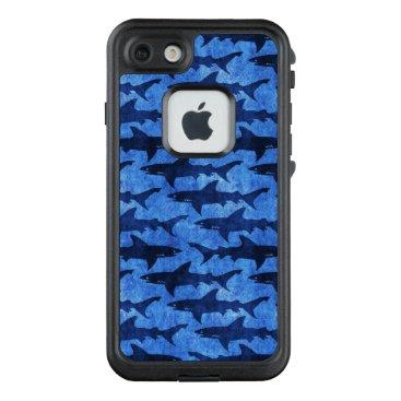 Beach Themed Funny Scuba Diver Shark Attack Blue Ocean LifeProof FRĒ iPhone 7 Case