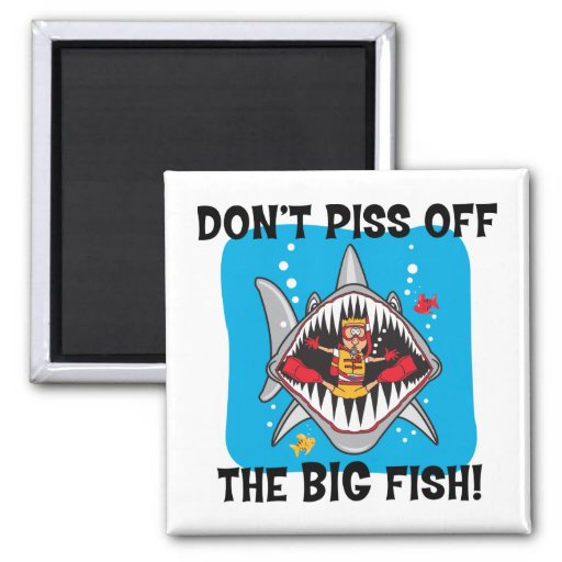 Funny SCUBA Diving 2 Inch Square Magnet
