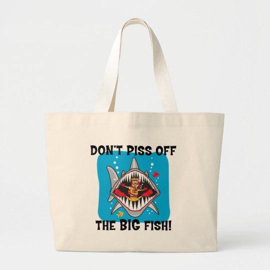 Funny SCUBA Diving Large Tote Bag
