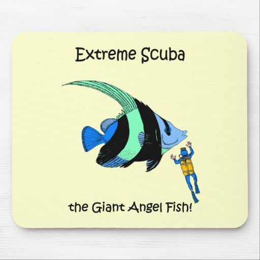 Funny scuba diving mousepads