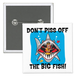Funny SCUBA Diving Pinback Button