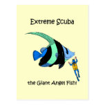 Funny scuba diving post cards