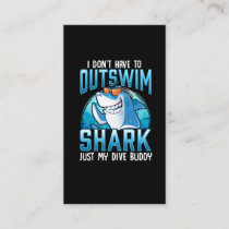 Funny Scuba Diving Shark Dive Buddy Business Card