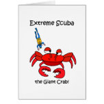 Funny scuba greeting cards