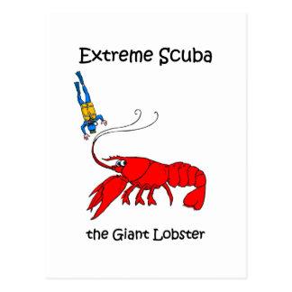 Funny scuba postcard