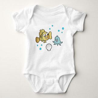Funny sea animals baby bodysuit