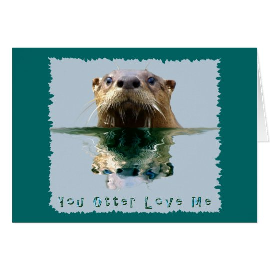 Funny SEA OTTER Greeting Card