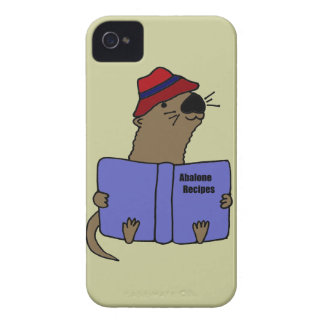 Funny Sea otter Reading Abalone Recipe Book Case-Mate iPhone 4 Cases