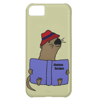 Funny Sea otter Reading Abalone Recipe Book Cover For iPhone 5C