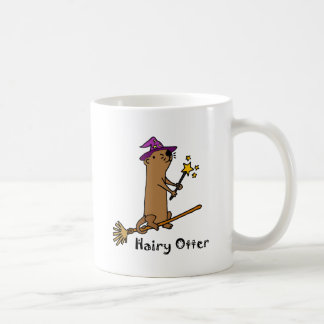 Funny Sea Otter Wizard Cartoon Coffee Mug