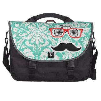 Funny Seafoam Green Damask Commuter Bags