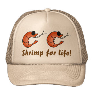 Funny seafood shrimp trucker hat
