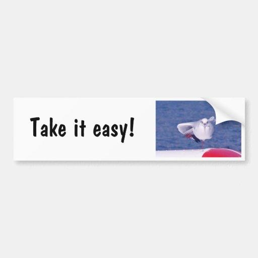 Funny seagull - Bumper sticker