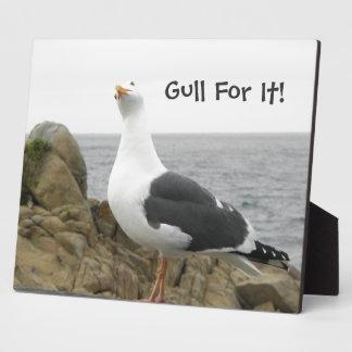 Funny Seagull Custom Plaque