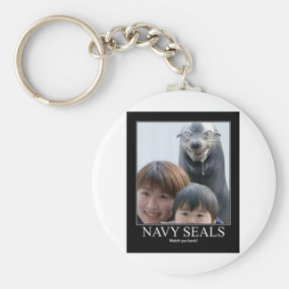 Funny Seal (and a Chipmunk) Keychain