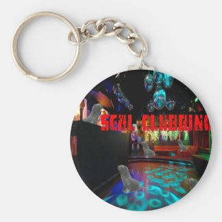 Funny Seal Clubbing T shirt Keychain