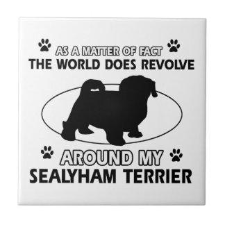 Funny sealyham terrier designs tile