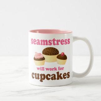 Funny Seamstress Two-Tone Coffee Mug
