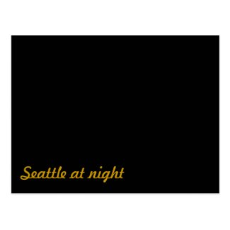 Funny: Seattle at Night Postcard