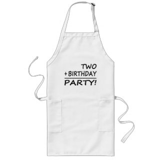 Funny Second Birthdays : Two + Birthday = Party Apron