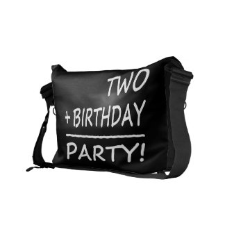 Funny Second Birthdays : Two + Birthday = Party Messenger Bags