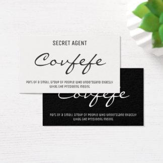 Funny Secret Agent Covfefe Trump Tweet Twitter Business Card