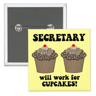 funny secretary buttons