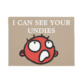 Funny see your undies face doormat