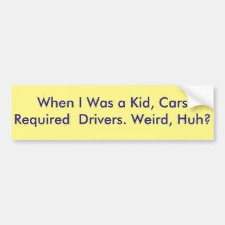 funny self-driving car bumper sticker
