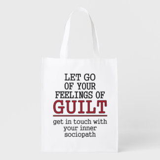 Funny Self-Knowledge reusable bag Grocery Bags